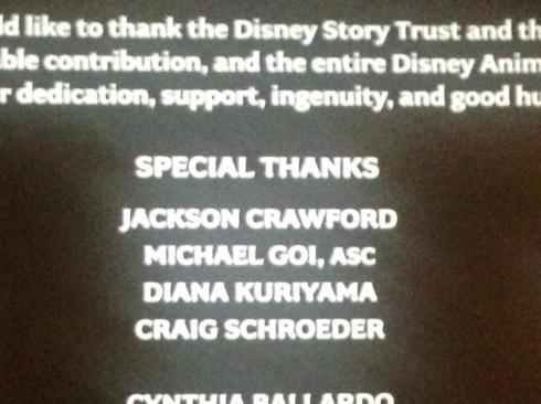 Frozen Credits